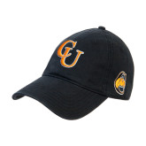 Black Twill Unstructured Low Profile Hat-CU