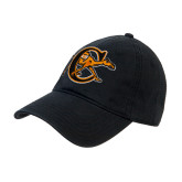 Black Twill Unstructured Low Profile Hat-Campbell Official Logo
