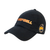 Black Twill Unstructured Low Profile Hat-Campbell Flat