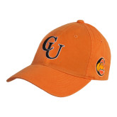 Orange Twill Unstructured Low Profile Hat-CU
