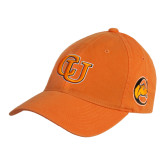 Orange Twill Unstructured Low Profile Hat-Interlockin CU