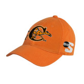 Orange Twill Unstructured Low Profile Hat-Campbell Official Logo