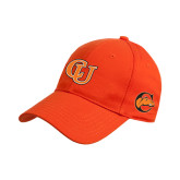 Orange Heavyweight Twill Pro Style Hat-Interlockin CU