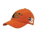 Orange Flexfit Mid Profile Hat-Campbell Official Logo