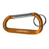 Orange Carabiner with Split Ring-Campbell Flat Engraved