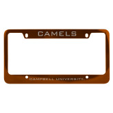 Metal Orange License Plate Frame-Camels