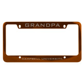 Metal Orange License Plate Frame-Grandpa