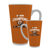 Full Color Latte Mug 17oz-2017 Big South Champions Mens Golf