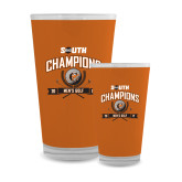 Full Color Glass 17oz-2017 Big South Champions Mens Golf