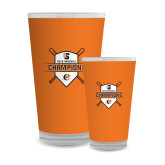Full Color Glass 17oz-2018 Baseball Champions