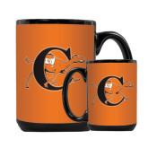 Full Color Black Mug 15oz-Campbell Official Logo