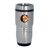 Rolling Ridges Silver Stainless Tumbler 16oz-Campbell Official Logo