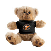 Plush Big Paw 8 1/2 inch Brown Bear w/Black Shirt-Campbell Official Logo