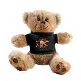 Plush Big Paw 8 1/2 inch Brown Bear w/Black Shirt-Campbell Official Logo