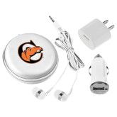 3 in 1 White Audio Travel Kit-C w/ Camel Head