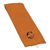 Orange Golf Towel-C w/ Camel Head