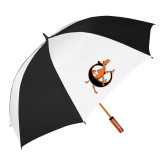 62 Inch Black/White Umbrella-Campbell Official Logo