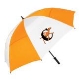 62 Inch Orange/White Umbrella-Campbell Official Logo