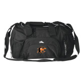 High Sierra Black Switch Blade Duffel-Campbell Official Logo