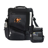 Momentum Black Computer Messenger Bag-Campbell Official Logo