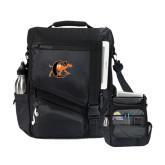 Momentum Black Computer Messenger Bag-Campbell Official Logo