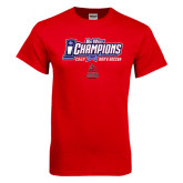 Big West Red T Shirt-Big West Champions 2016 CSUN Mens Soccer