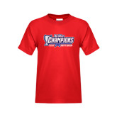 Big West Youth Red T Shirt-Big West Champions 2016 CSUN Mens Soccer
