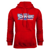 Big West Red Fleece Hoodie-Big West Champions 2016 CSUN Mens Soccer