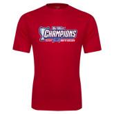 Big West Performance Red Tee-Big West Champions 2016 CSUN Mens Soccer