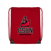 Red Drawstring Backpack-CSUN Matador
