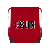 Red Drawstring Backpack-CSUN