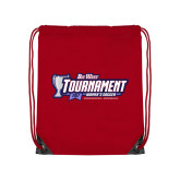 Red Drawstring Backpack-Big West Champions 2017 Womens Soccer