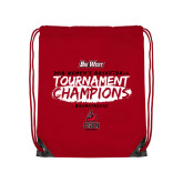 Red Drawstring Backpack-2018 Womens Basketball Champions - Brush