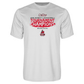 Performance White Tee-2018 Womens Basketball Champions - Brush