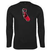 Performance Black Longsleeve Shirt-California Matador