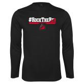 Performance Black Longsleeve Shirt-#RockTheRed
