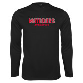 Performance Black Longsleeve Shirt-Matadors Athletics