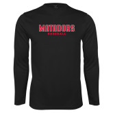 Performance Black Longsleeve Shirt-Matadors Baseball