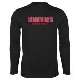 Performance Black Longsleeve Shirt-Matadors Basketball