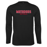 Performance Black Longsleeve Shirt-Matadors Softball