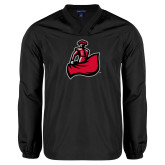 V Neck Black Raglan Windshirt-Matador