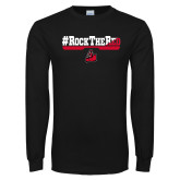 Black Long Sleeve T Shirt-#RockTheRed