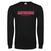 Black Long Sleeve T Shirt-Matadors Baseball