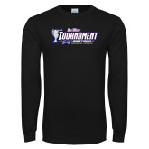 Black Long Sleeve T Shirt-Big West Champions 2017 Womens Soccer