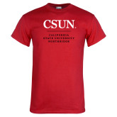 Red T Shirt-Institutional Logo Stacked