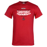 Red T Shirt-2018 Womens Basketball Champions - Brush
