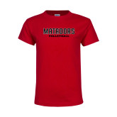Youth Red T Shirt-Matadors Volleyball