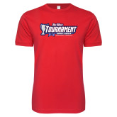 Next Level SoftStyle Red T Shirt-Big West Champions 2017 Womens Soccer