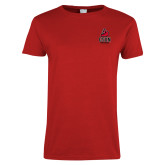 Ladies Red T Shirt-CSUN Matador