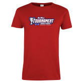 Ladies Red T Shirt-Big West Champions 2017 Womens Soccer